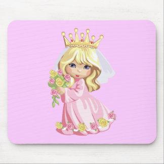 Princesa rosada mouse pad