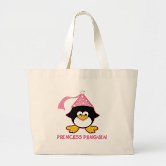 Princesa rosada Penguin Bolsa Tela Grande