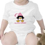 Princesa rosada Penguin Camisetas