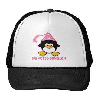 Princesa rosada Penguin Gorros Bordados