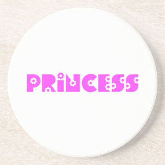 Princesa rosada posavasos para bebidas