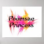 Princesa rosada Poster Print de Poomsae