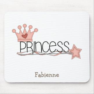 Princesa rosada · Princesa Wordart Alfombrilla De Ratón