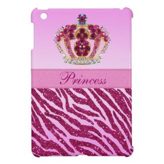 Princesa rosada Printed Crown y brillo de la cebra