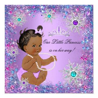 """Princesa rosada púrpura azul fiesta de bienvenida invitación 5.25"""" x 5.25"""""""