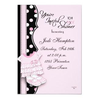 """Princesa rosada Shoes Invitación 5"""" X 7"""""""