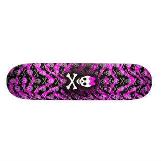 Princesa rosada Skateboard del cráneo de la cebra Monopatín