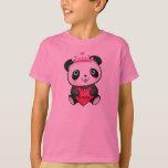 Princesa rosada T-shirt de la panda para el Playera