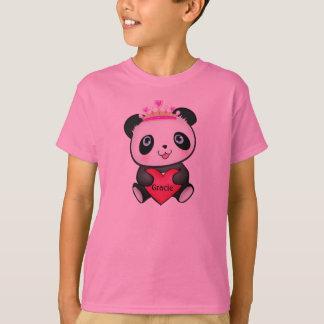 Princesa rosada T-shirt de la panda para el Poleras