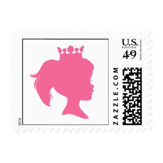 Princesa rosada T-shirts y regalos de la silueta Sello
