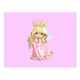 Princesa rosada postal