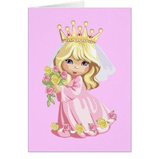 Princesa rosada tarjetón