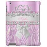 Princesa rosada Tiara Diamond Girly de la cebra