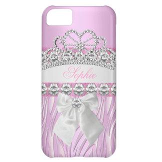 Princesa rosada Tiara Diamond Girly Phone de la Funda iPhone 5C