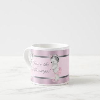 Princesa rosada Twin Girl Baby Cups Taza Espresso
