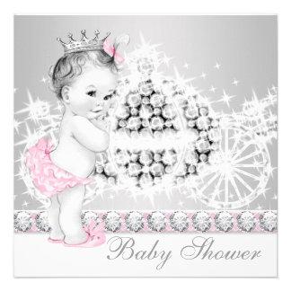 Princesa rosada y gris elegante fiesta de bienveni