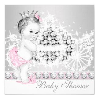 Princesa rosada y gris elegante fiesta de anuncios