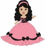 Princesa rosada y negra 2 del vestido esculturas fotograficas