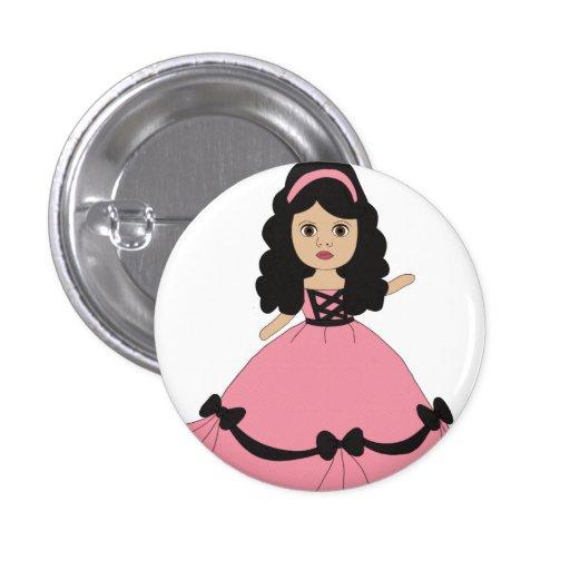 Princesa rosada y negra 2 del vestido pins
