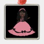 Princesa rosada y negra 3 del vestido ornamente de reyes