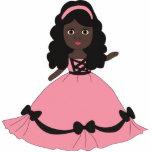 Princesa rosada y negra 3 del vestido escultura fotografica