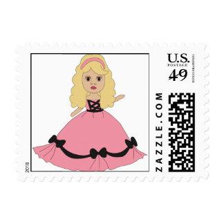 Princesa rosada y negra 4 del vestido franqueo