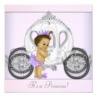 Princesa rosada y púrpura fiesta de bienvenida al anuncios personalizados