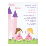 Princesa rosada y púrpura Invitation Invitacion Personalizada