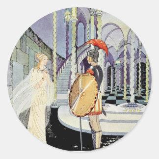 Princesa Rosette y soldado Pegatina Redonda