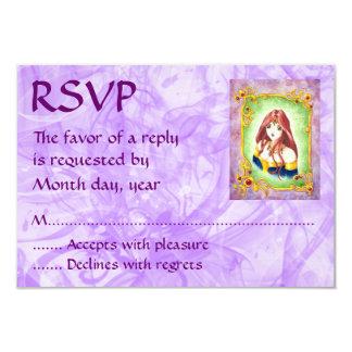 """Princesa RSVP del animado Invitación 3.5"""" X 5"""""""