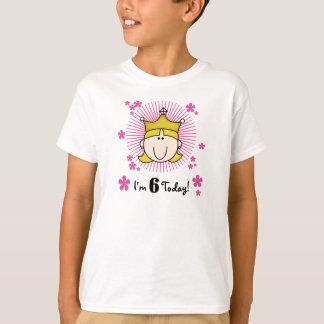 Princesa rubia 6to cumpleaños playera