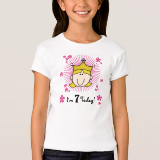 Princesa rubia 7mo cumpleaños playera