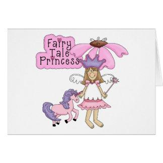 Princesa rubia del cuento de hadas tarjeta de felicitación