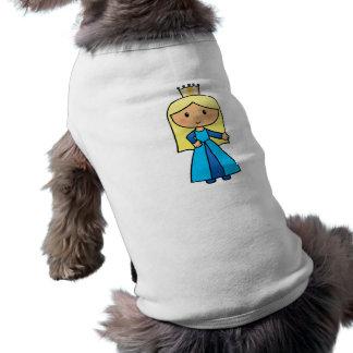 Princesa rubia linda del clip art del dibujo playera sin mangas para perro