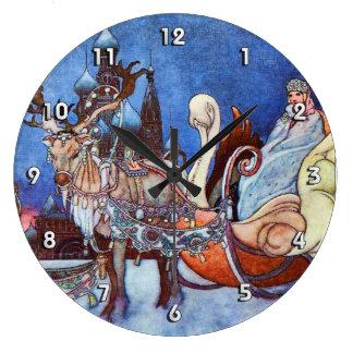 Princesa rusa Charles Robinson Illustration Reloj Redondo Grande