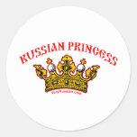 Princesa rusa pegatinas redondas