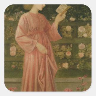 Princesa Sabra 1865-66 Pegatina Cuadrada