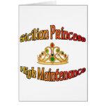 Princesa siciliana alto mantenimiento felicitacion