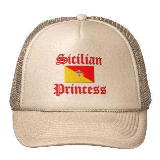 Princesa siciliana gorros bordados