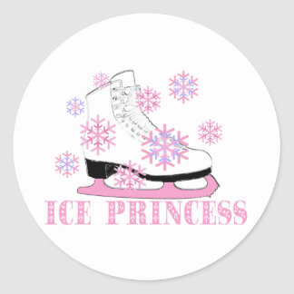 Princesa Skate del hielo Pegatina Redonda