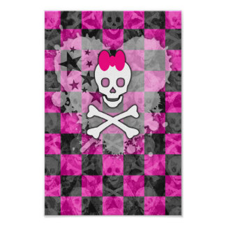 Princesa Skull Heart Poster