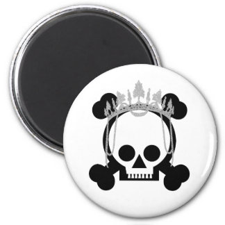 Princesa Skulls Imán Redondo 5 Cm