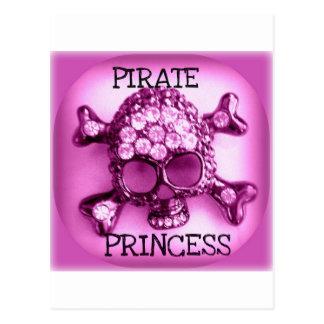 PRINCESA SKULLY PINK PRINT DEL PIRATA POSTALES