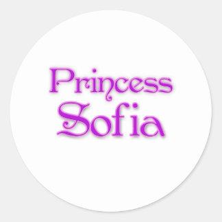 Princesa Sofía Pegatina Redonda