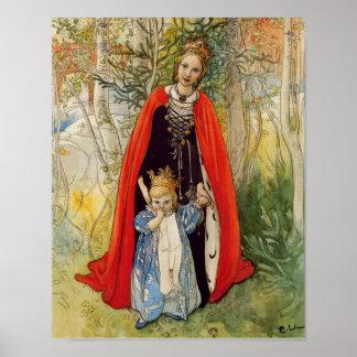Princesa Spring Mother e hija Impresiones