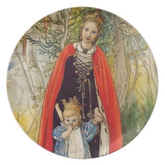 Princesa Spring Mother e hija Platos De Comidas