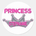 Princesa Stephanie Pegatina Redonda