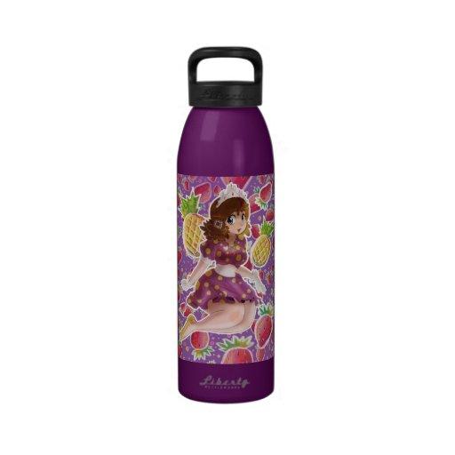 Princesa Strawberry Pattern de la piña de la fruta Botellas De Agua Reutilizables