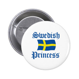 Princesa sueca pin redondo 5 cm