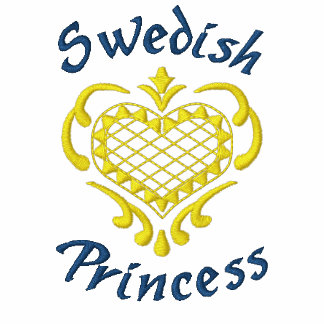 Princesa sueca sudadera bordada con capucha